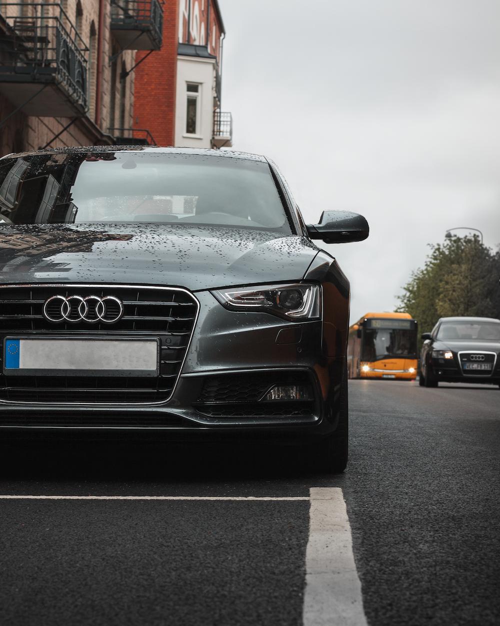gray Audi sedan