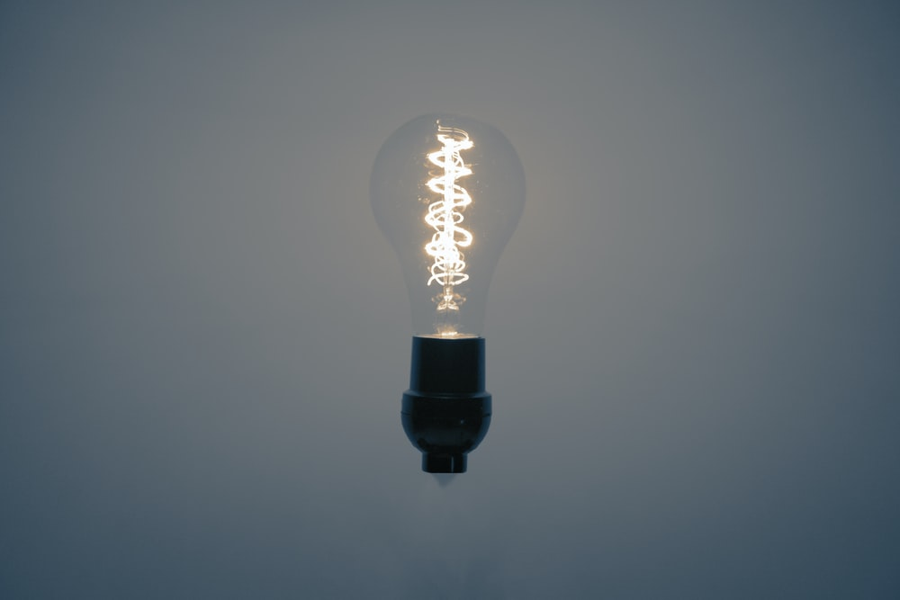 lighted light bulb