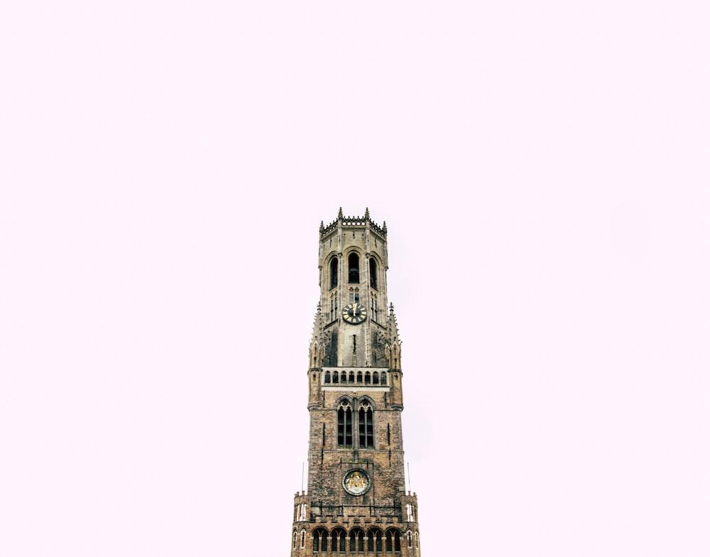 Belfry of Bruges during daytime