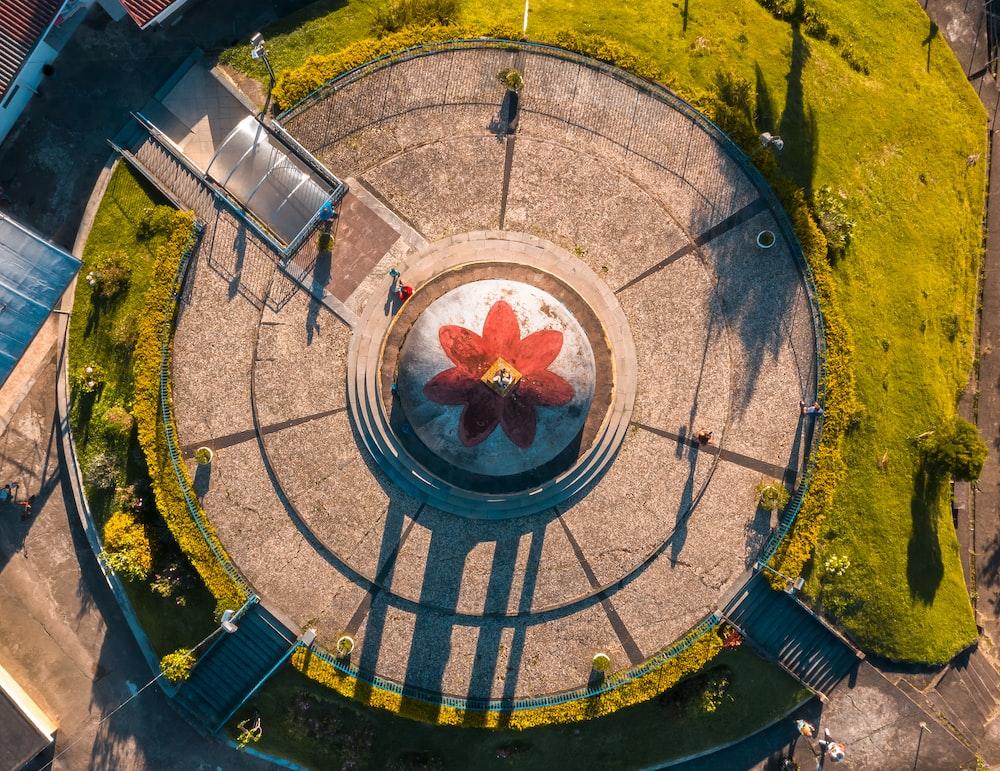 aerial photography of graden
