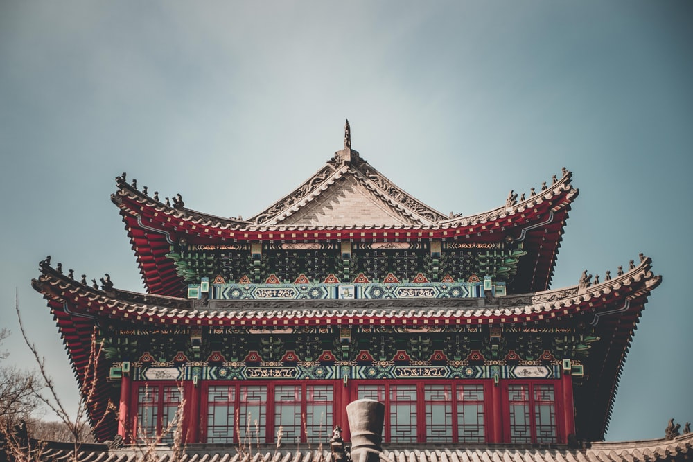 red and white temple