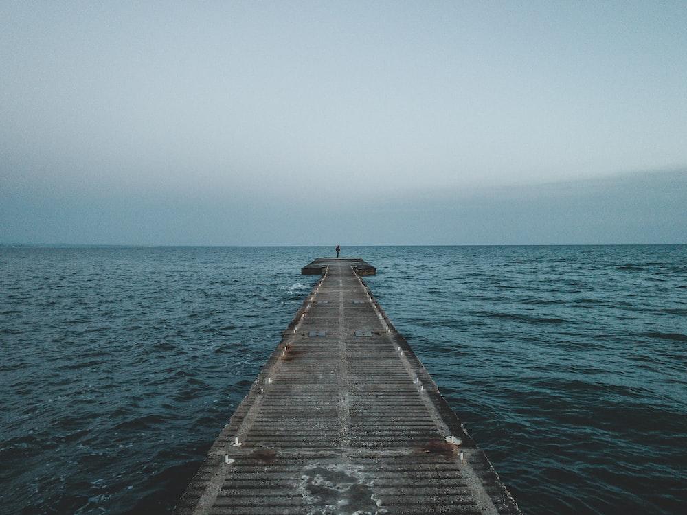 gray boardwalk