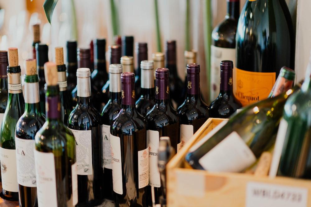 white labeled bottles