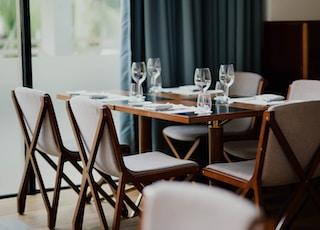 empty dining set