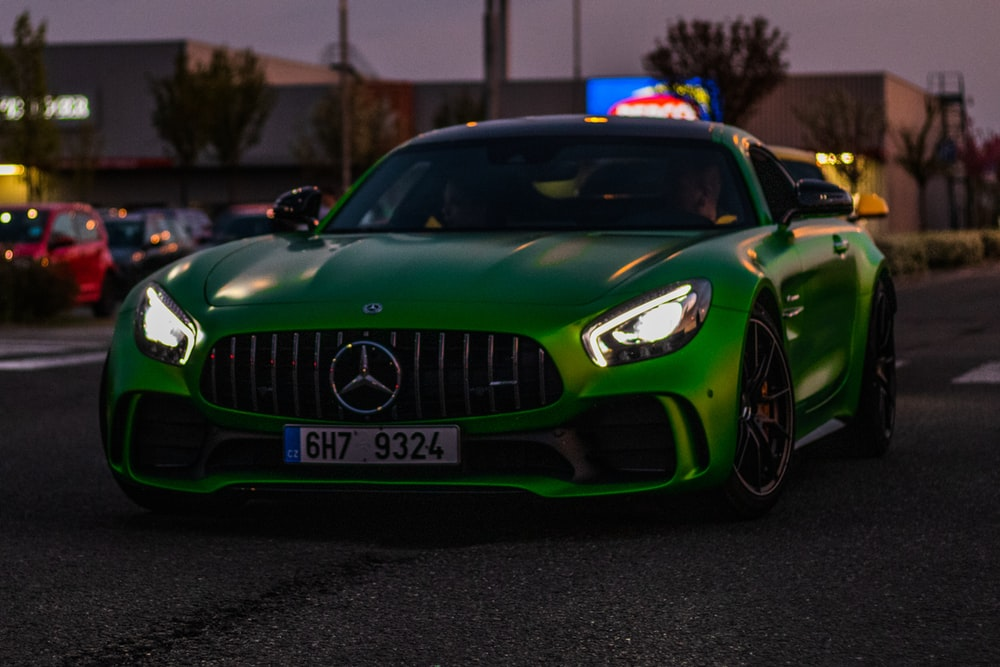 green Mercedes-Benz coupe