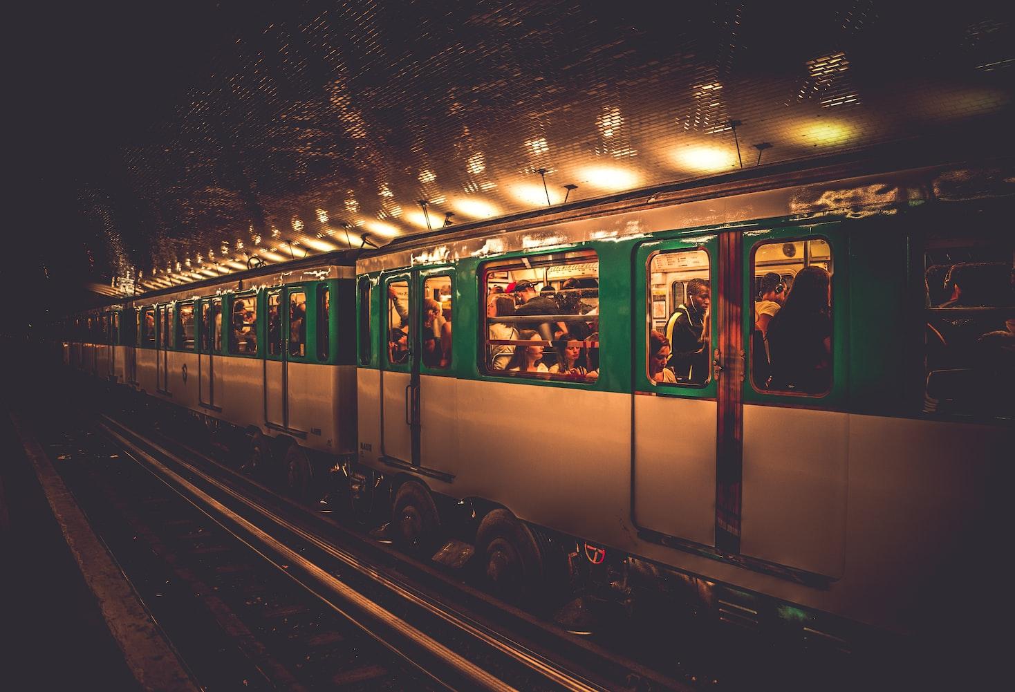 A train in Paris