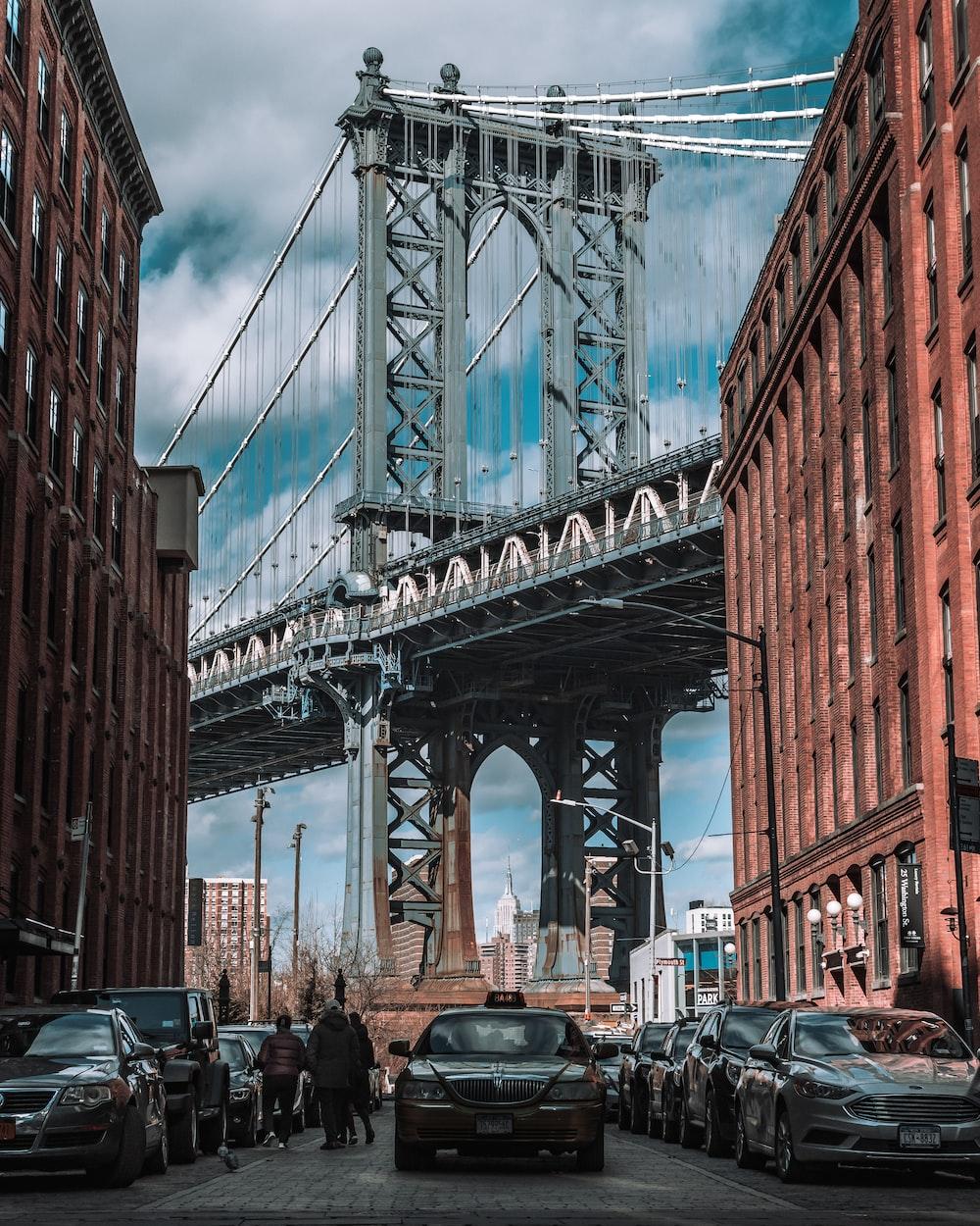 gray bridge on focus photography
