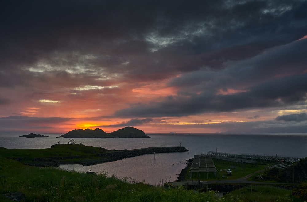ocean and islands during golden hour
