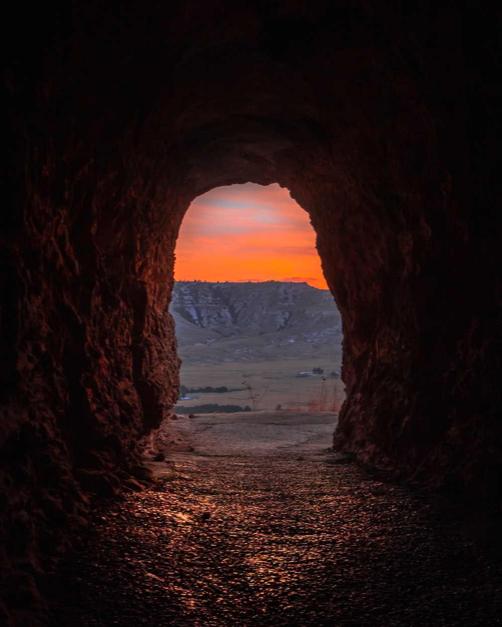 cave during golden hour