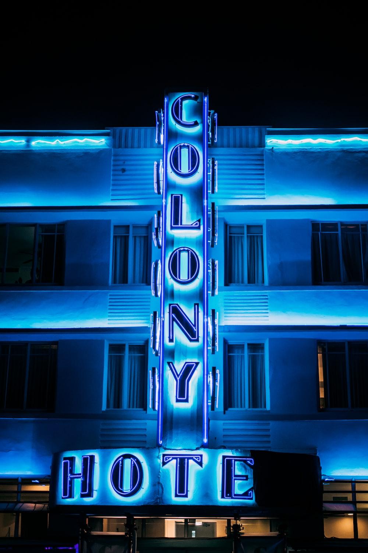 Colony Hotel LED signage
