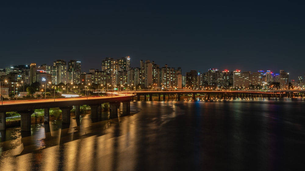 city during nighttime