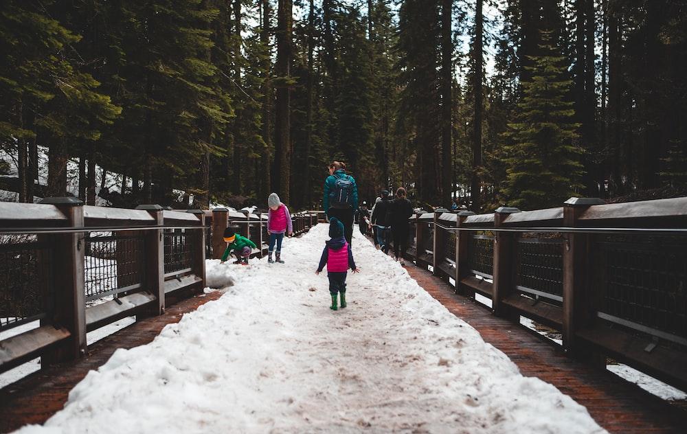 children playing on snow