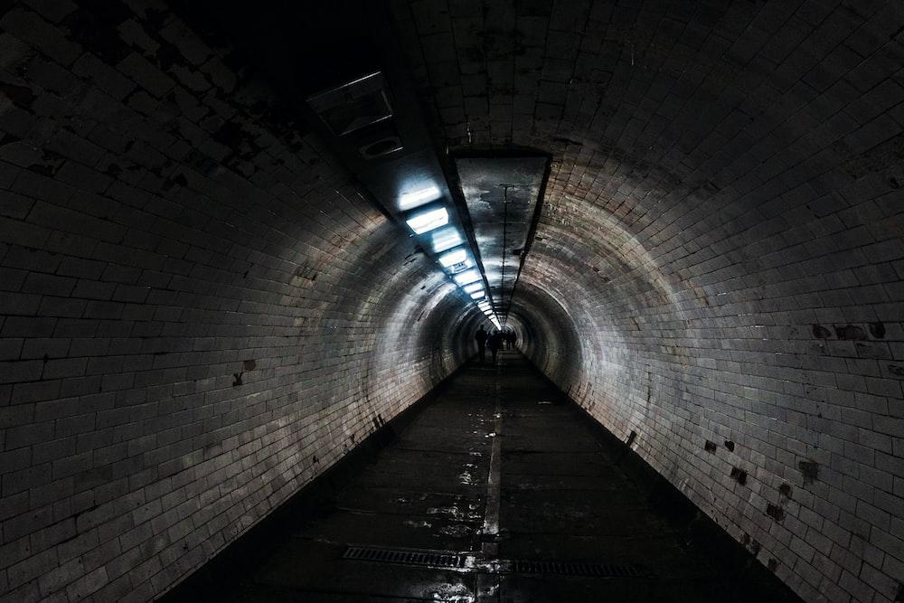 gray concrete tunnel