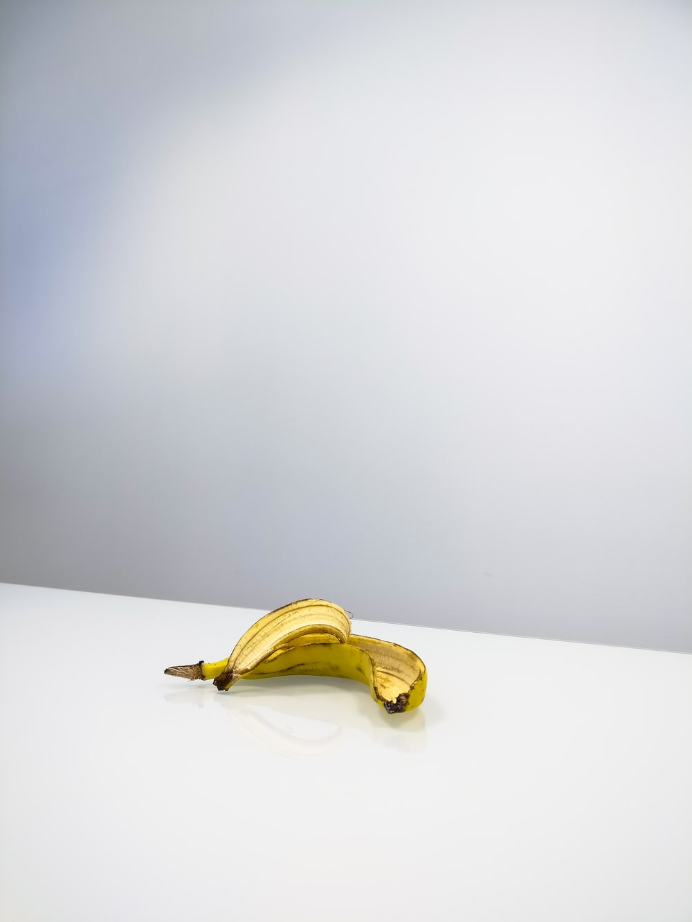 banana peel on table