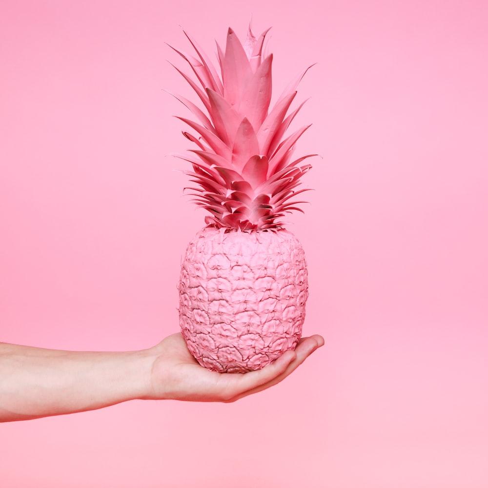 pink pineapple fruit