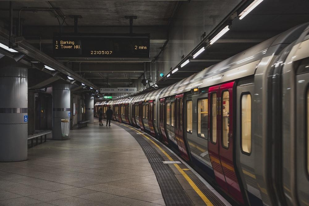 person near train