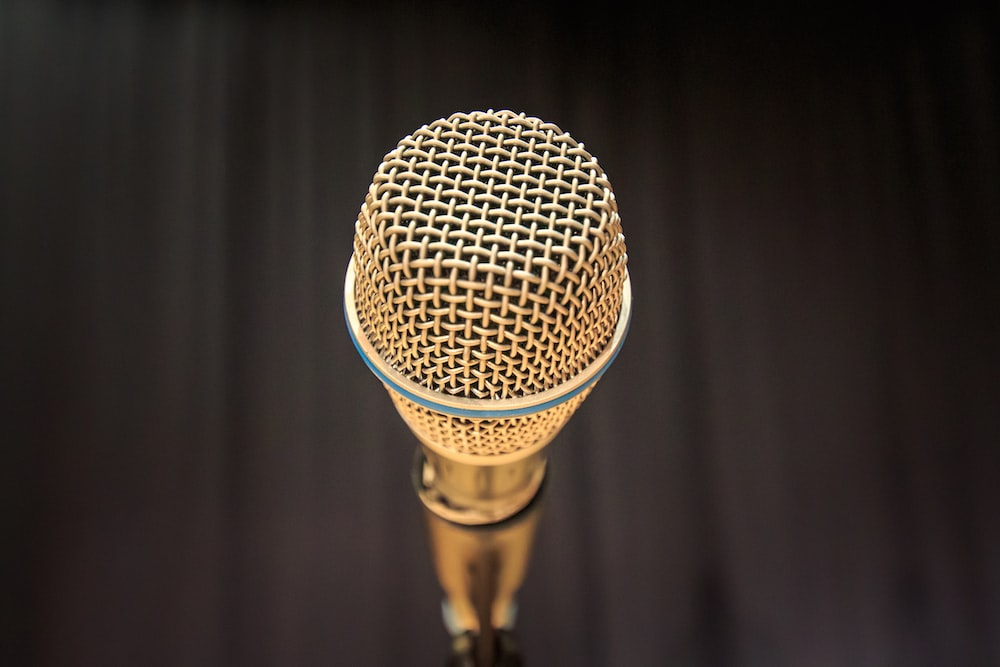 gold dynamic microphone