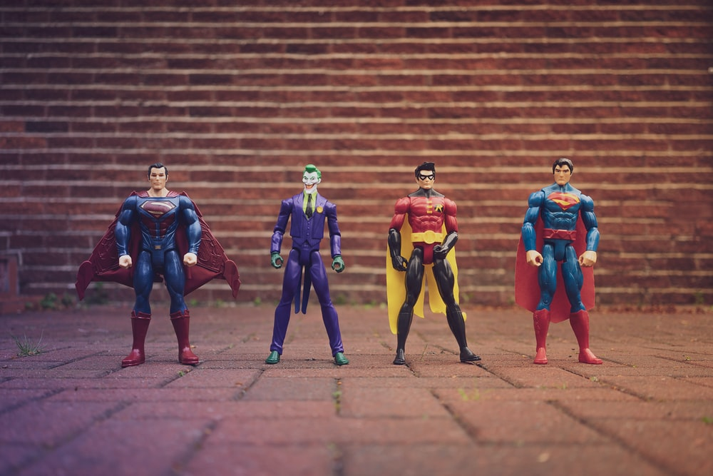 Superheroes and Villains figure