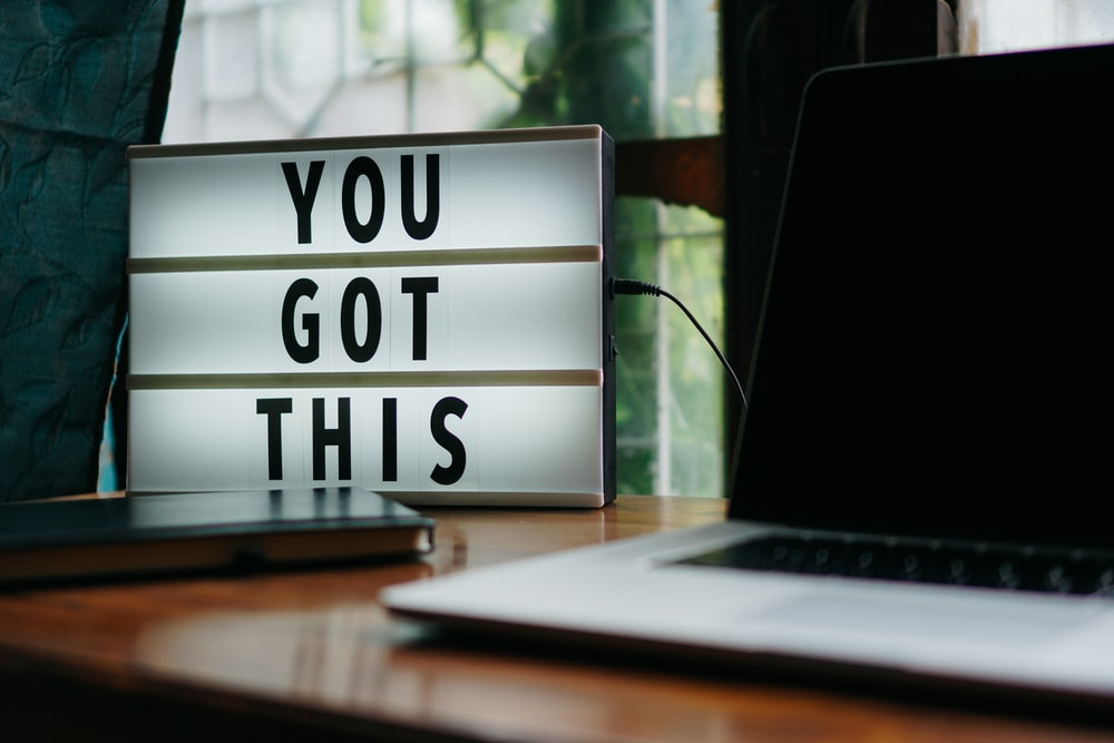 you got this signage on desk