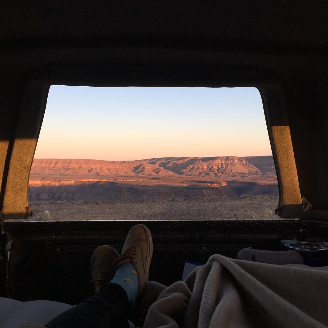 Road trip in Namibia with a canopied pick up !
