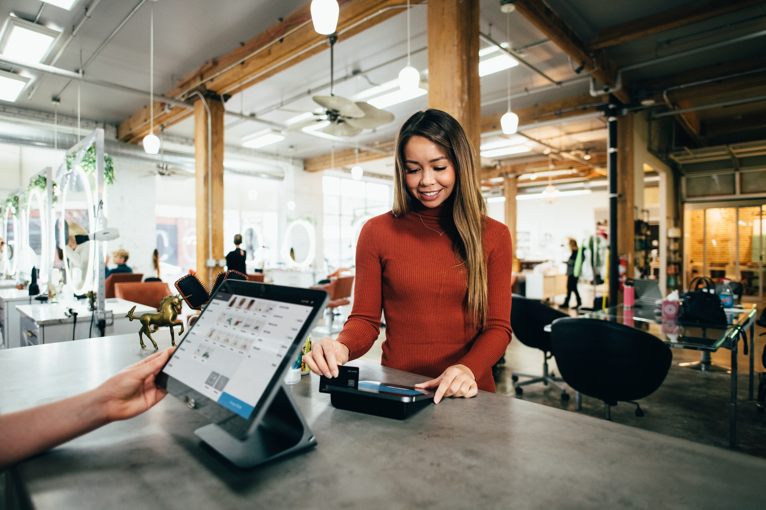 Woman paying for a purchase
