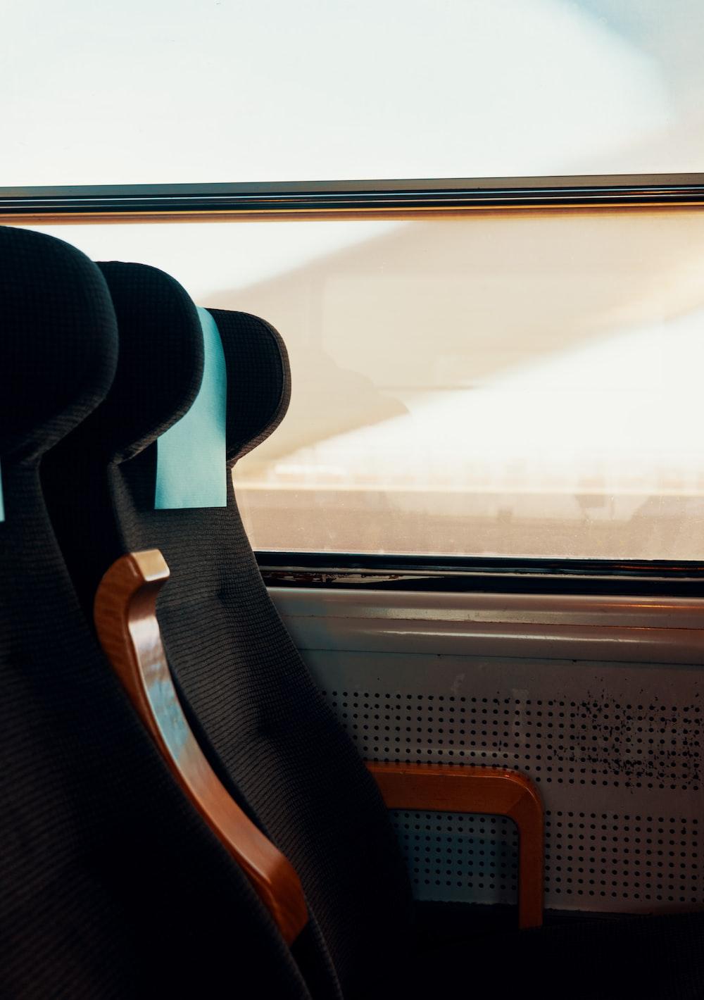 black high-back seat