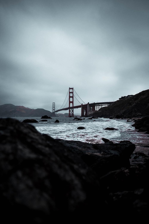 grayscale photography of Golden Gate bridge