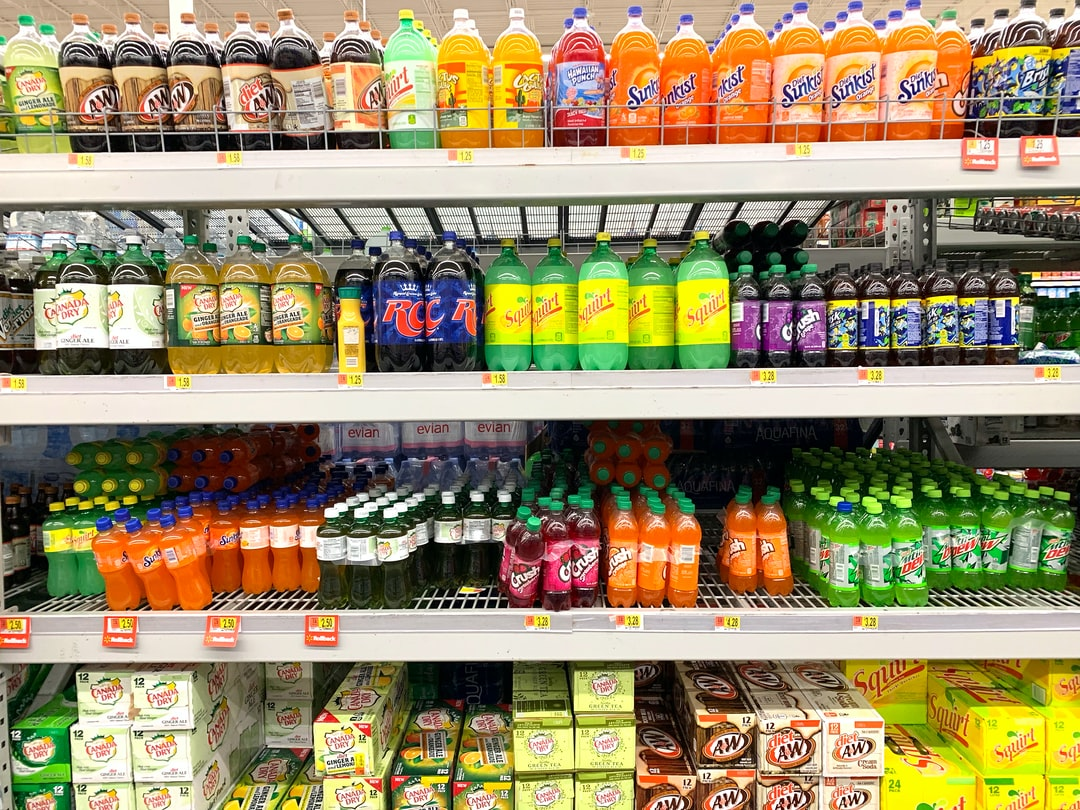 commercial shelf - soda drinks