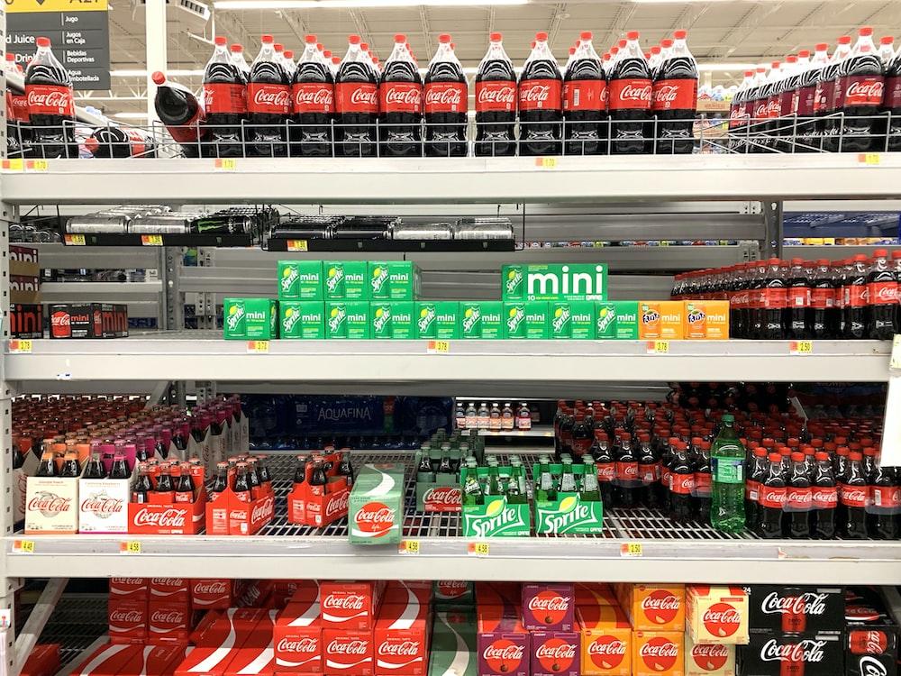 Coca-Cola soda bottle lot