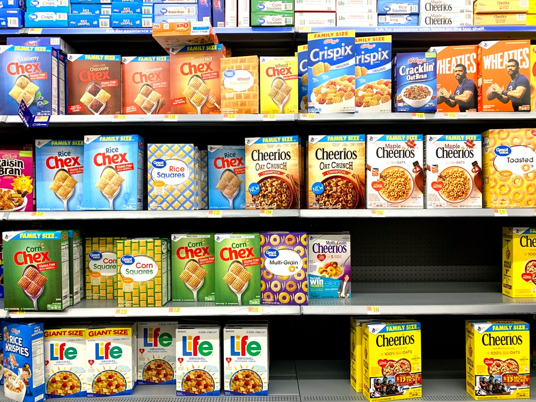Walmart USA commercial shelf - cereal