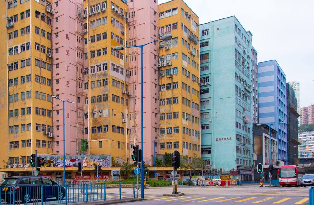 colorful high-rise buildings