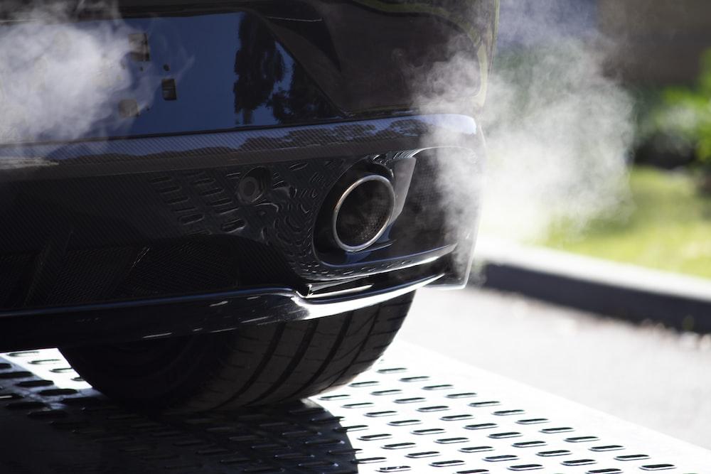 black vehicle