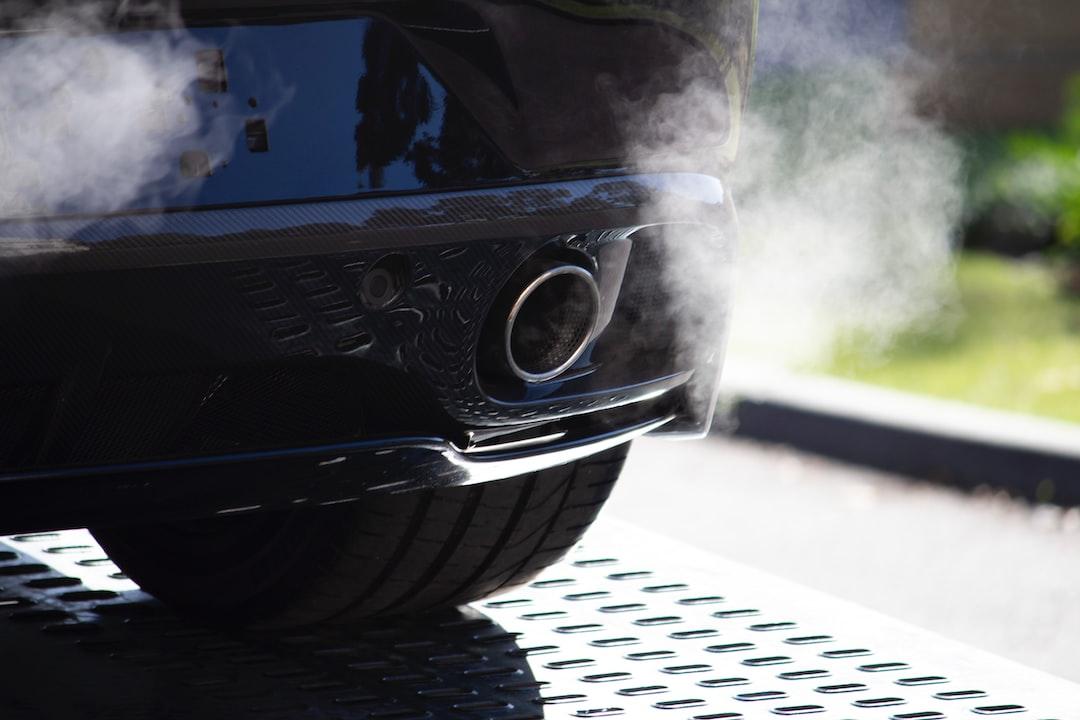 An exhaust of a car