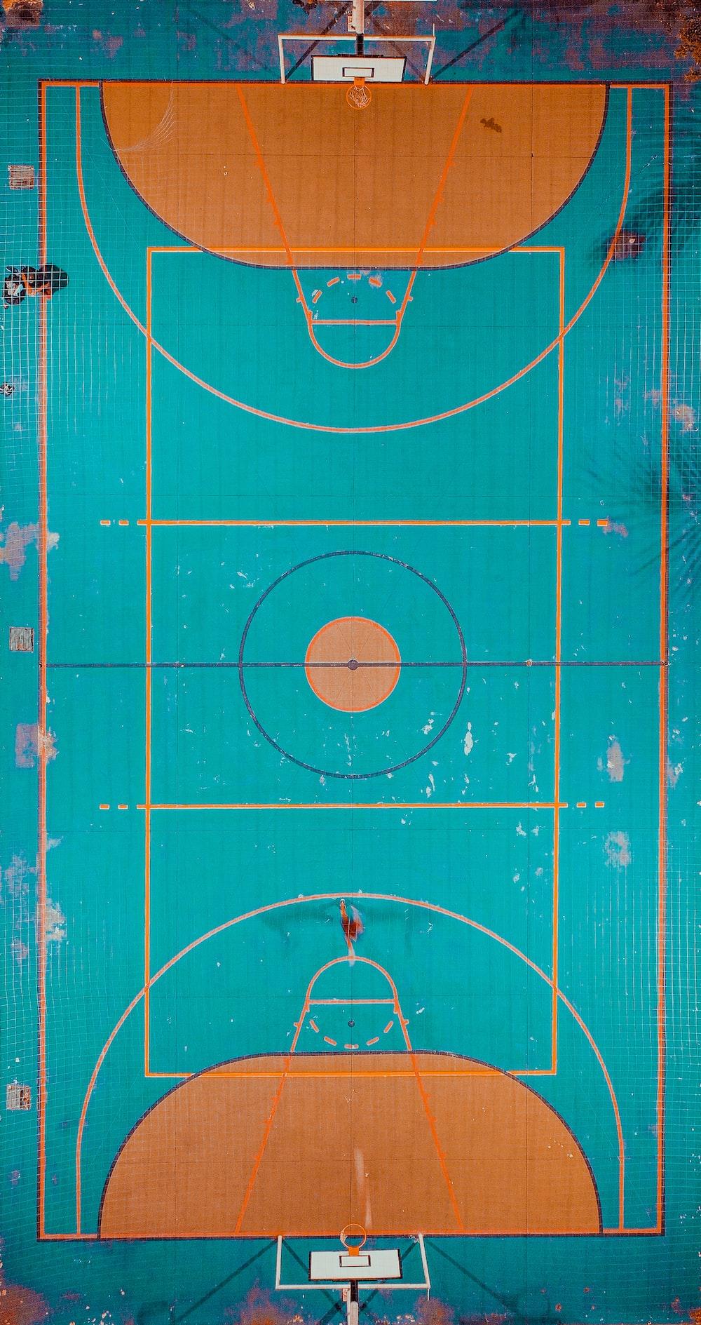 basketball court during daytime