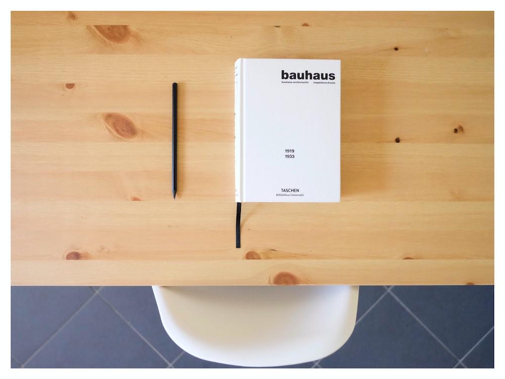 white Bauhaus box on table