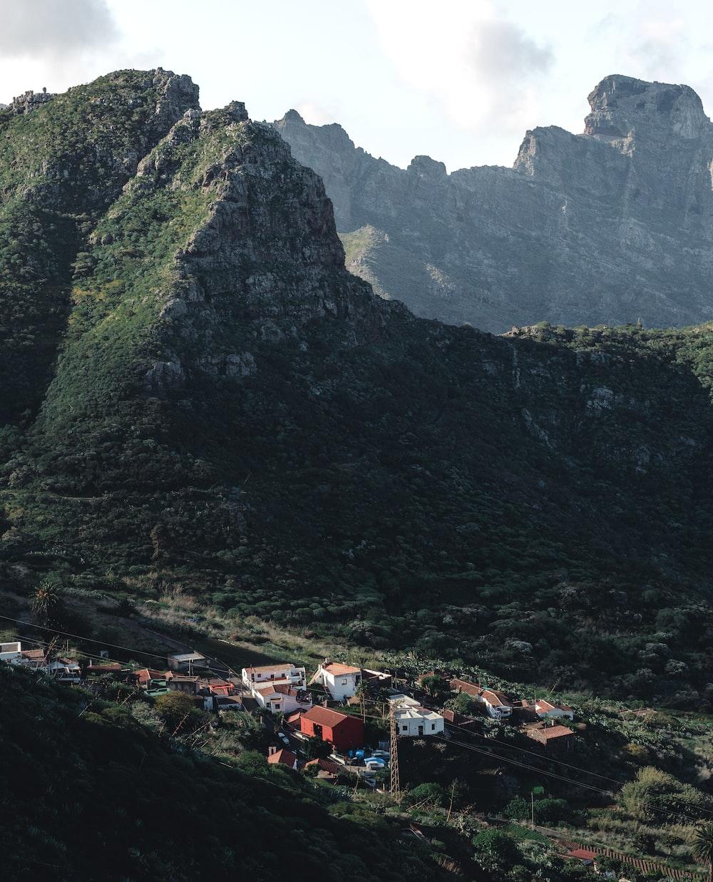 houses near mountains