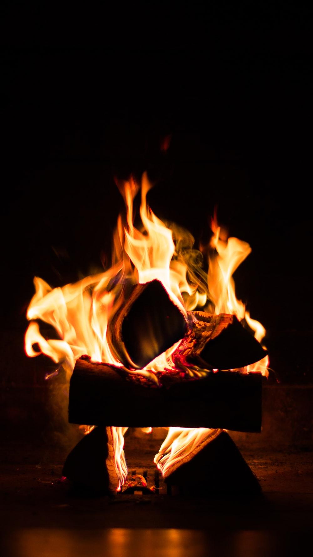 bon fire close-up photography