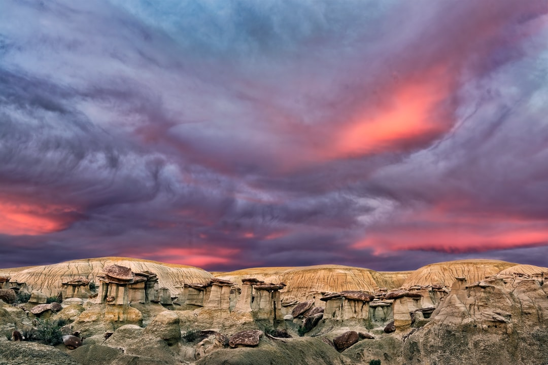 Sunset in the Ah-shi-sle-pah Wilderness Study Area in Northern New Mexico USA