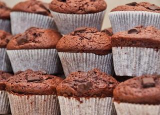 chocolate cupcake lot close-up photography