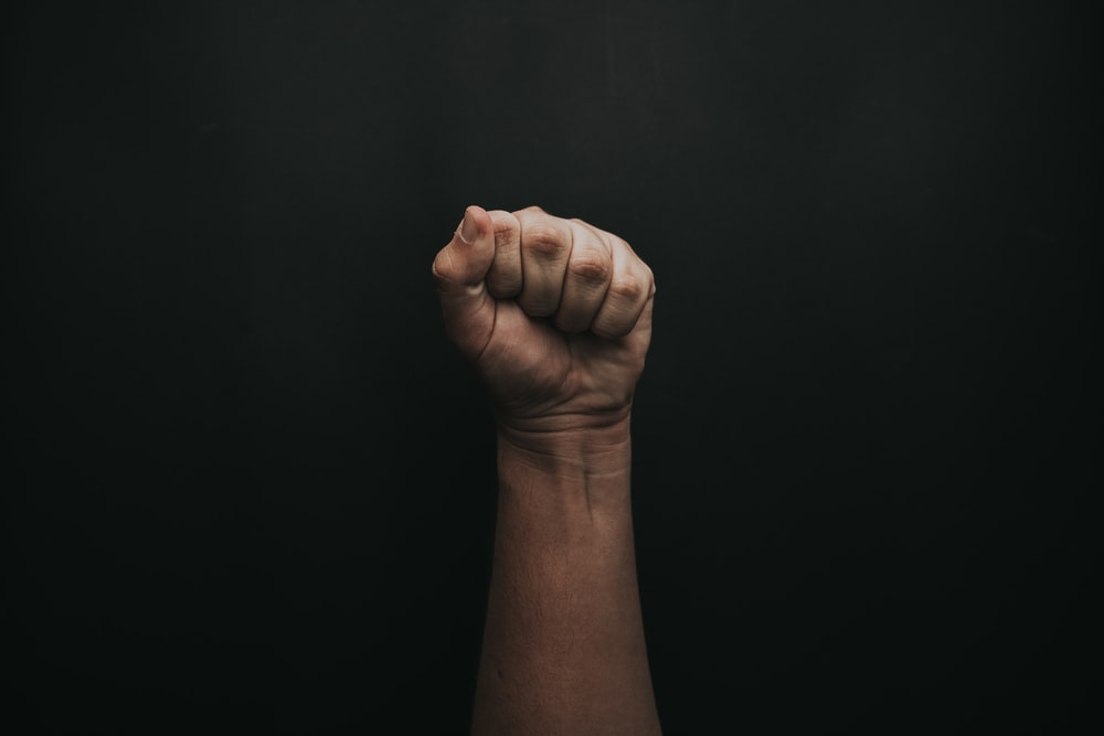 left human fist