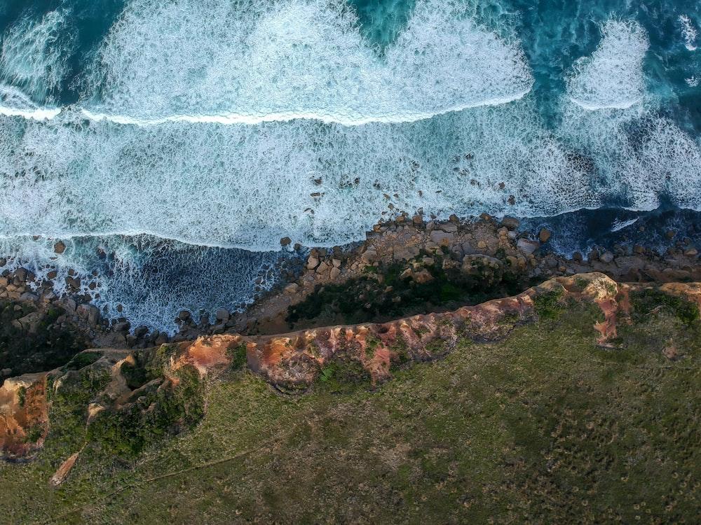 aerial photo of ocean during dayimte