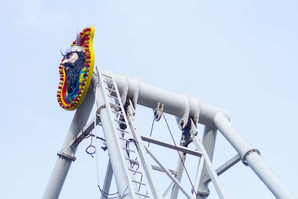 low angle photography of circus ride