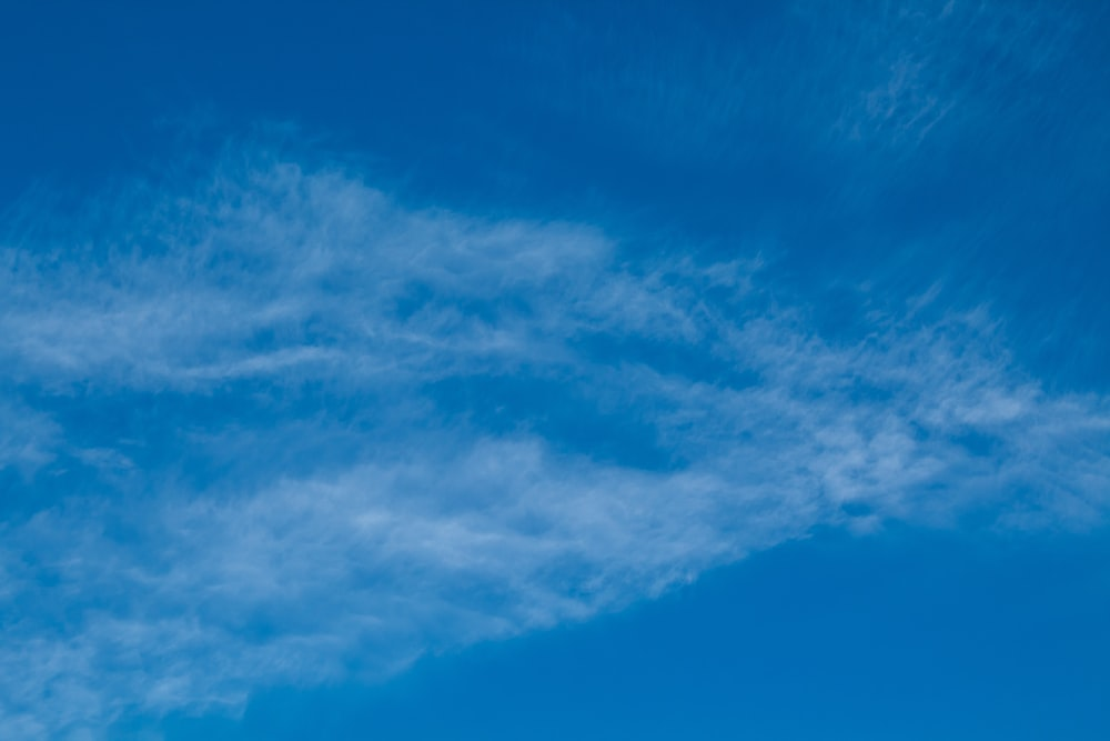 white and blue sky