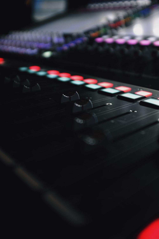 black DJ mixing machine