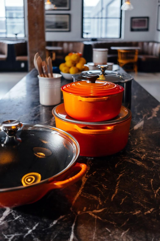 orange cookiware set