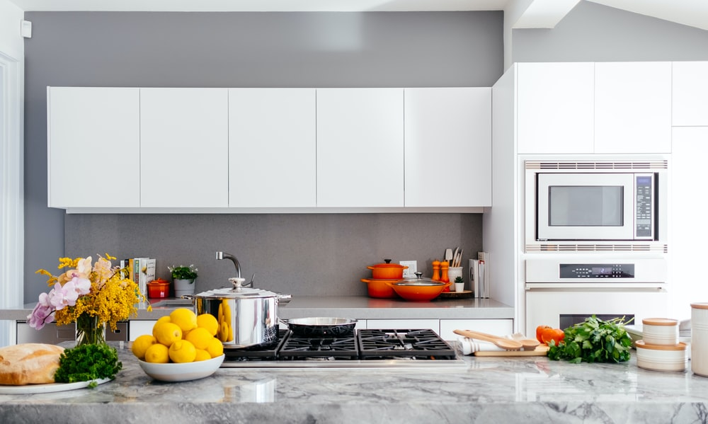 white over-the-range oven