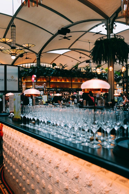 long-stem wine glass lot