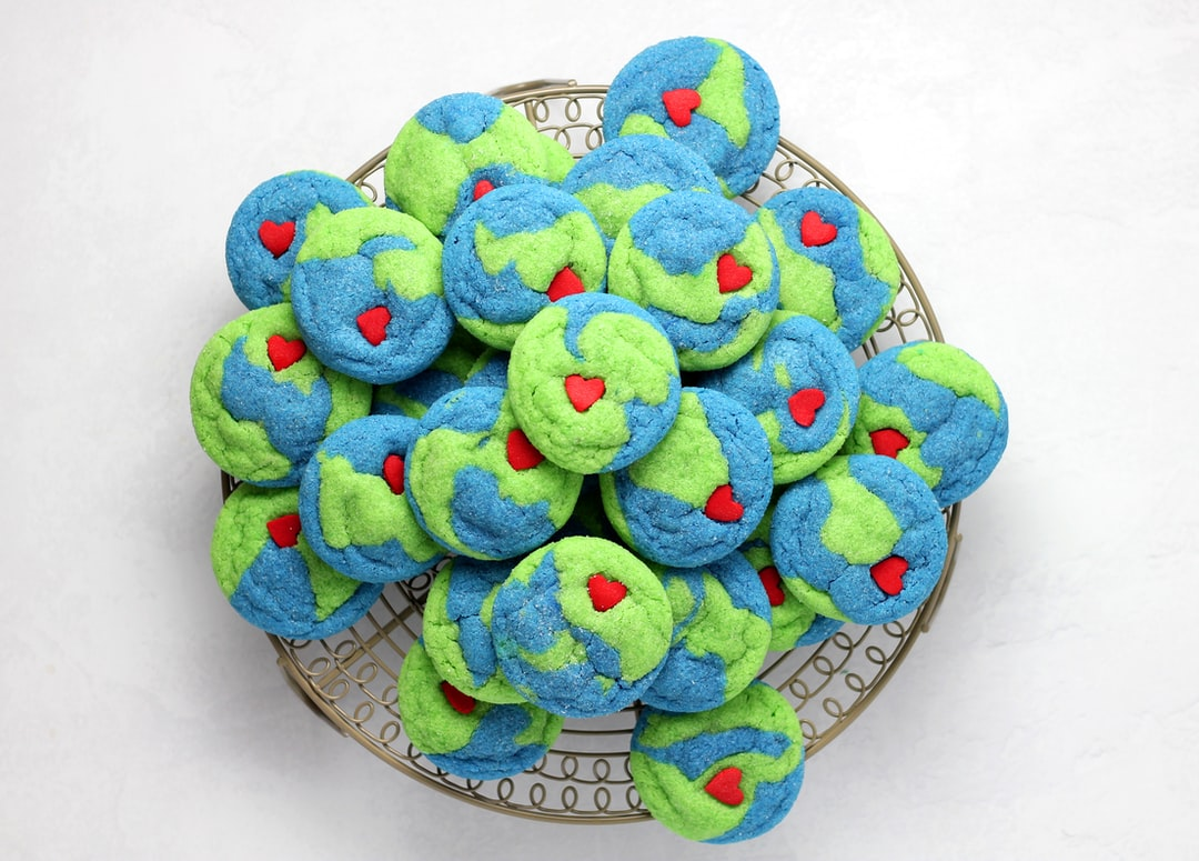 """Earth"" cookies for Earth Day."