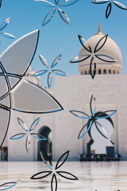 white concrete mosque
