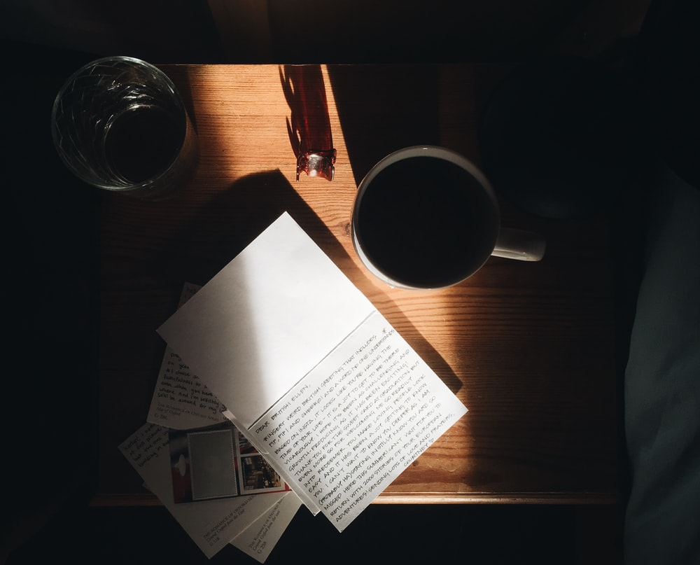 paper on table